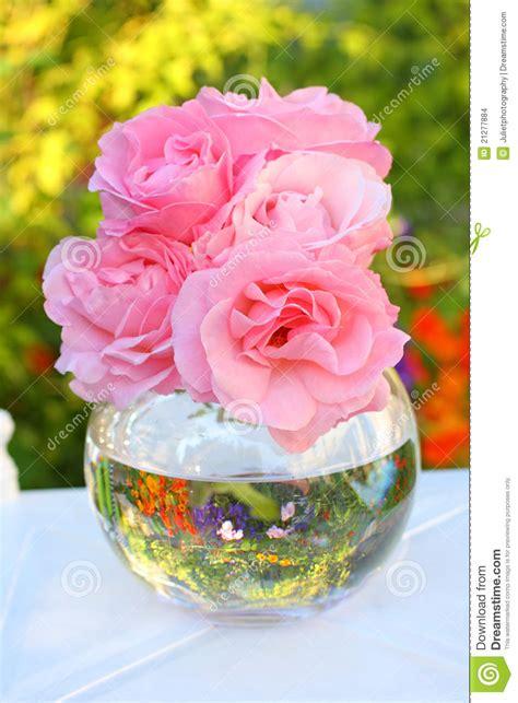 Decorative Flower Vase Lovely Pink Roses In A Vase Stock Photo Image 21277884