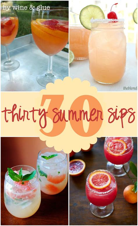 summer cocktail recipes 30 delicious summer cocktails wine glue