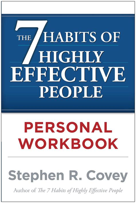The 7 Habits Of Highly The 7 Habits Of Highly Effective Personal Workbook Book By Stephen R Covey Official