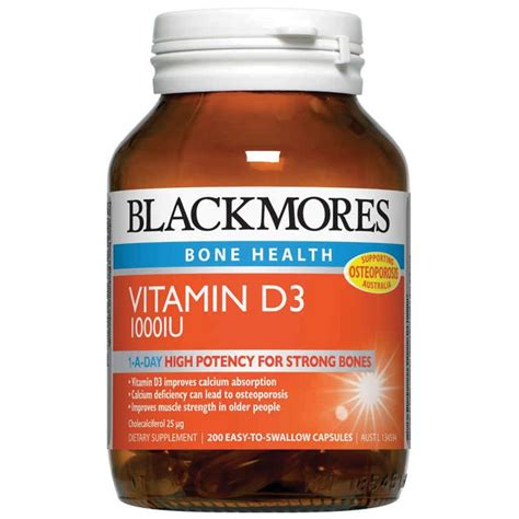 blackmores vitamin d3 1000iu capsules 200 health delivery