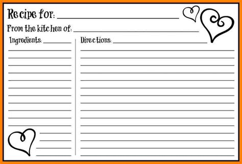 free editable recipe card templates in word 5 free editable recipe card templates for microsoft word
