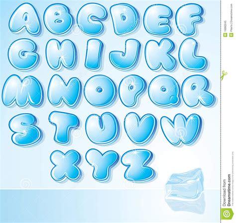 font design water design ice font stock vector illustration of happy