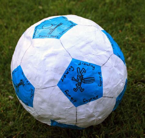 How To Make A Paper Mache Football -