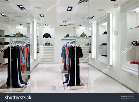 Interior Clothes by Clothing Store Interior Stock Photo 62463862