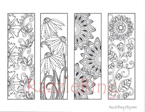 printable bookmarks pinterest diy bookmark printable coloring pagezentangle by