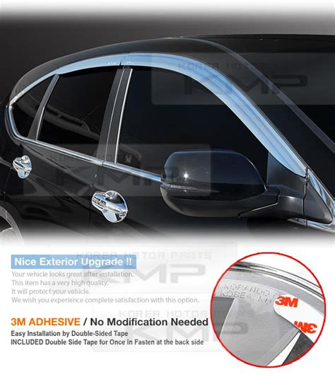 Doorvisor Honda All New Crv Turbo Modulo chrome window sun vent visor guards 4p d921 for honda 2012 2015 2016 cr v ebay