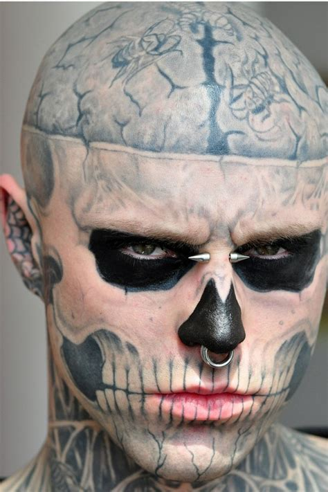 skeleton tattoo guy 11 best images about boy on rick genest