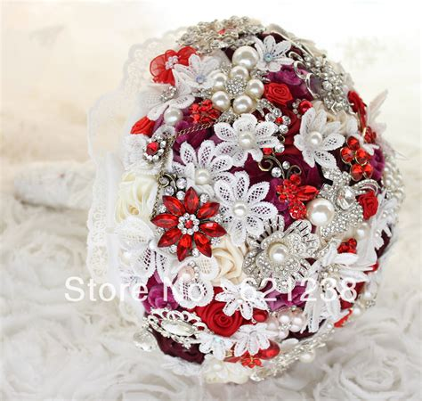 Handmade Bouquets Wedding - aliexpress buy 8 inch wine bridal bouquet