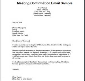 meeting confirmation letter archives sample letter