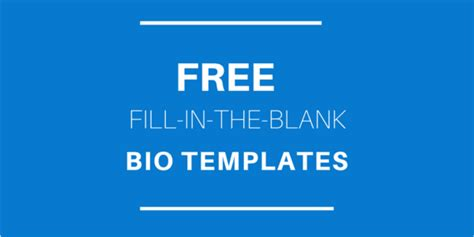 free fill in the blank bio templates amazing sle professional bio template embellishment