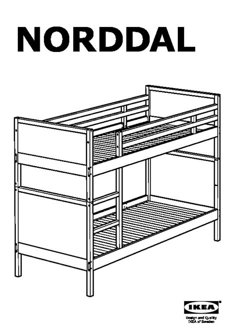 norddal bunk bed norddal bunk bed frame black brown ikea canada english ikeapedia