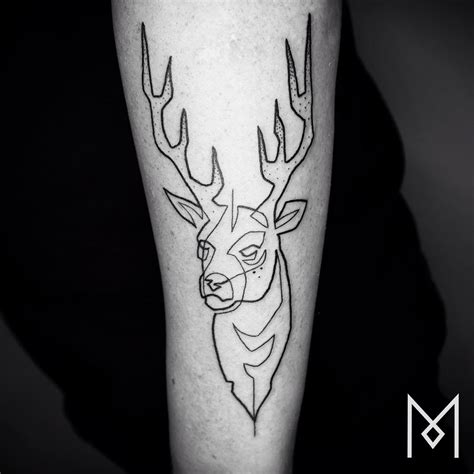 one continuous line tattoos by iranian german artist mo