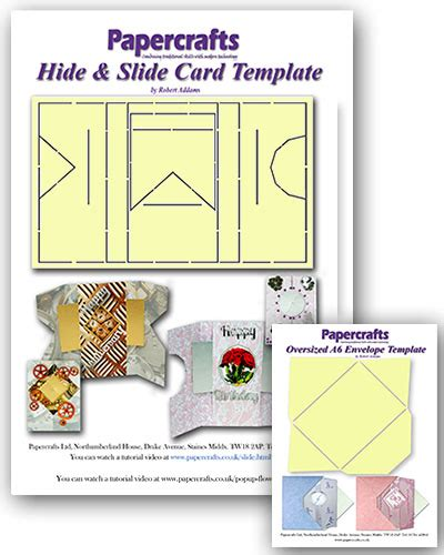 Docs A6 Card Template by Hide Slide Card Template Oversized A6 Envelope
