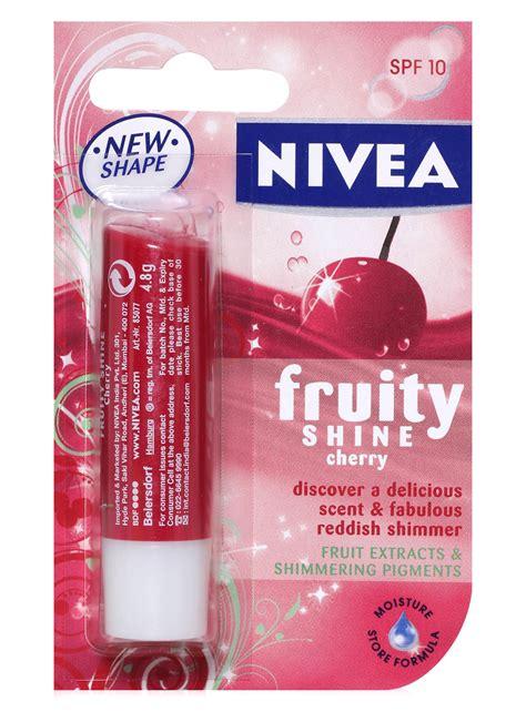 Nivea Lip Balm Cherry buy now nivea fruity shine cherry lip balm with spf 10 in india