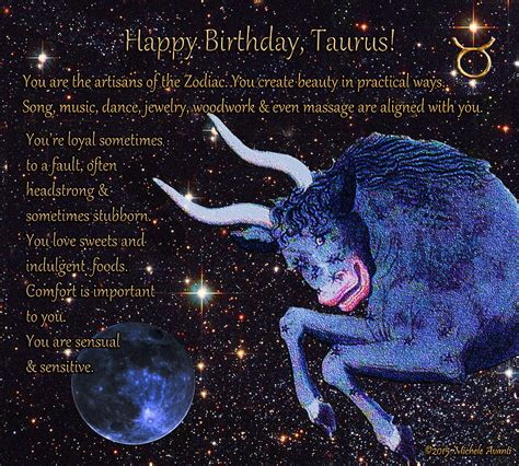 taurus birthday zodiac astrology digital art  michele avanti