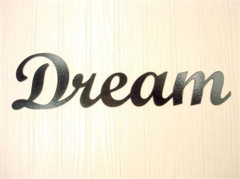 Blacksmith Home Decor by Metal Wall Art Home Decor Dream Word Art Ebay