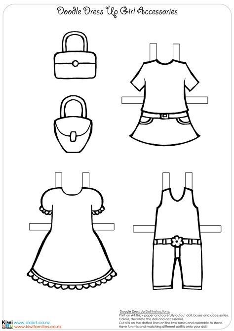 dress a doll template make your own paper dolls kiwi families