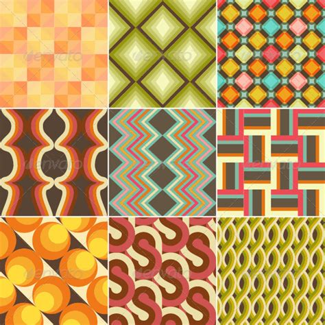 pattern background zip set of colorful retro seamless pattern wallpaper