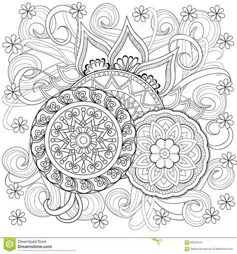 doodlebug florist byron ga flores y mandalas garabato ilustraci 243 n vector