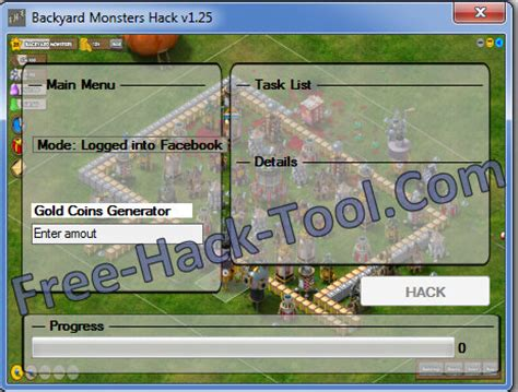 backyard monsters hack v1 25 get free gold coins