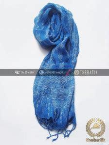 Syal Batik Cap Warna E1127 jual syal batik warna biru muda thebatik co id