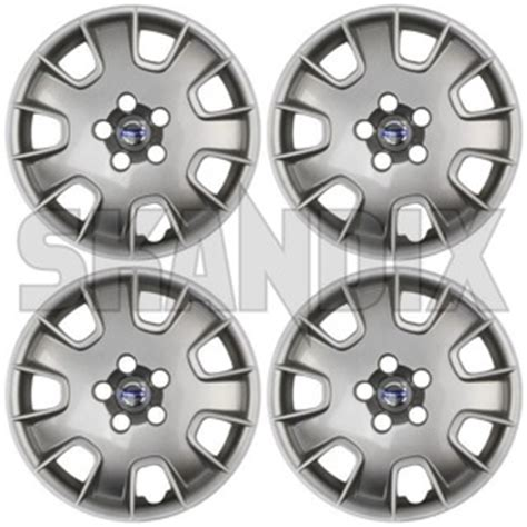 skandix shop volvo parts wheel cover silver    steel rims kit