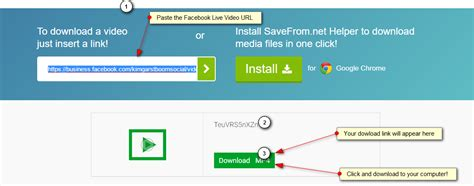 download youtube link step by step how to download a facebook live video kim