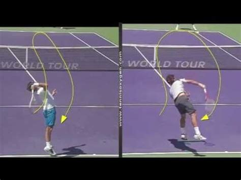 tennis serve swing path roger federer s kick serve analysis by tennisoxygen com