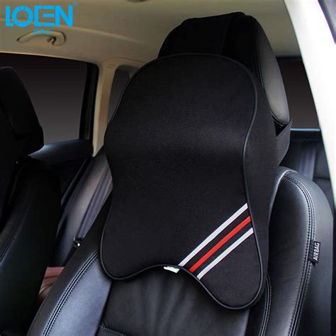 booster seat headrest uk loen leather or cotton 3d car seat cover neck support