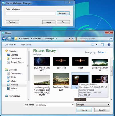 cara mengganti wallpaper laptop vaio cara ganti wallpaper windows7 starter tutorial dan informasi