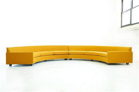 semi circle sectional couch milo baughman semi circle sectional sofa for sale at 1stdibs