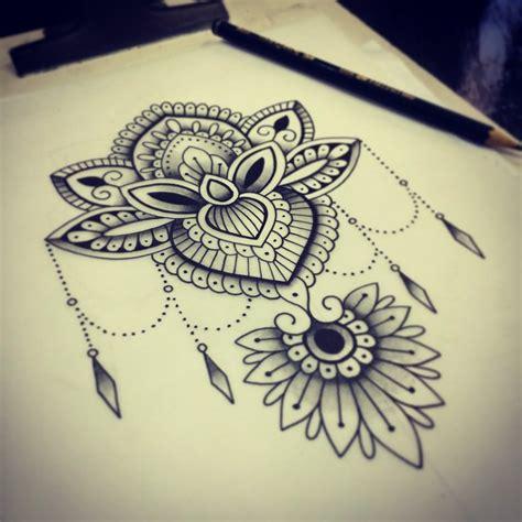 tattoo flor de lotus estilizada yukiotattoo japasearchtattoo searchtattoo studio work