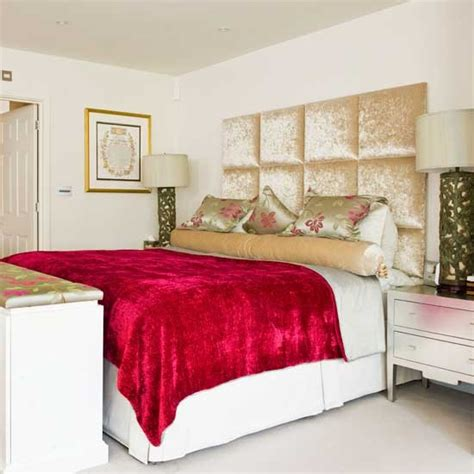 red accented bedroom colourful bedrooms ls