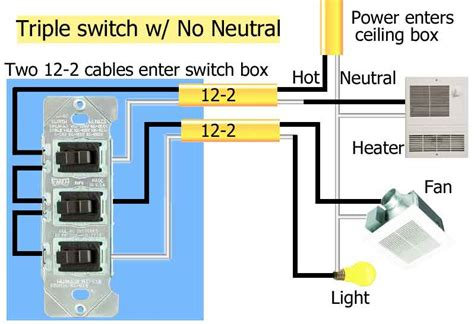wiring diagram for bathroom heater fan light wiring