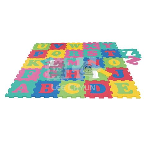 26 pcs alphabet puzzle mat big interlocking teeth for 12m
