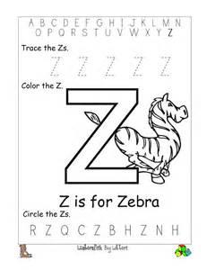 letter z worksheets to print activity shelter