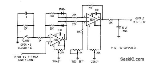 precision diode uses precision rectifier measuring and test circuit circuit diagram seekic