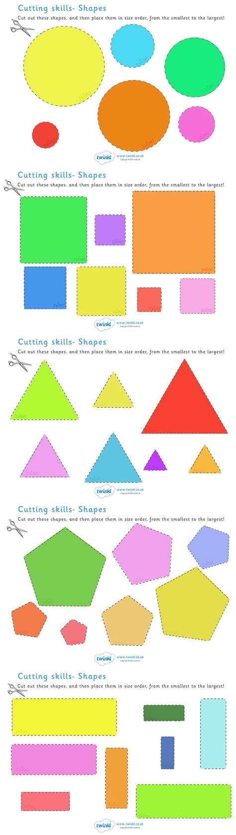 printable 2d shapes ks2 twinkl resources gt gt cutting skills worksheet size shape