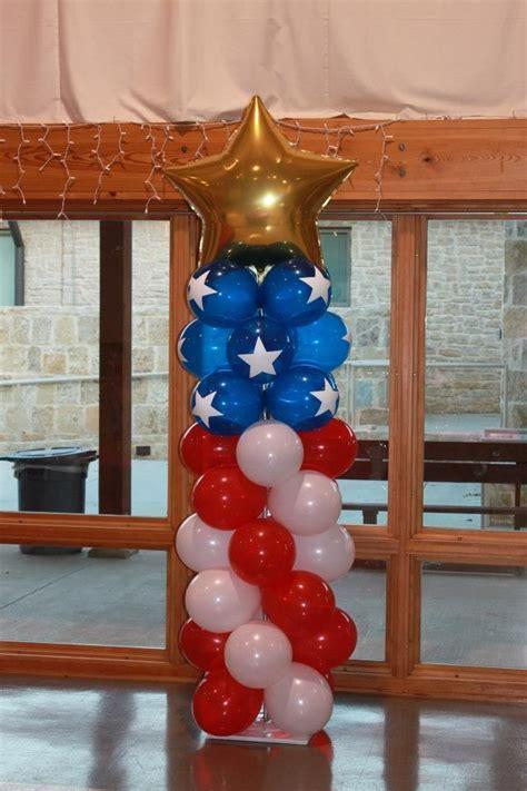 American flag balloon column   Eagle Court of Honor