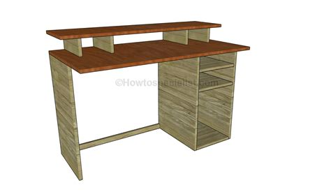 Computer Desk Blueprint Free Computer Desk Plans Howtospecialist How To Build Step By Step Diy Plans