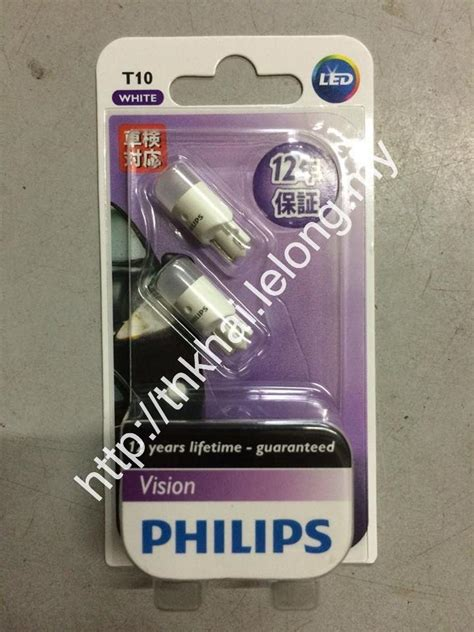 Lu Led T10 Philips wts 100 genuine philips osram car bulb