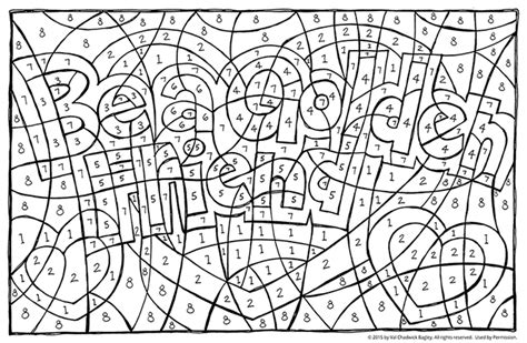 coloring pages hidden numbers find the hidden message