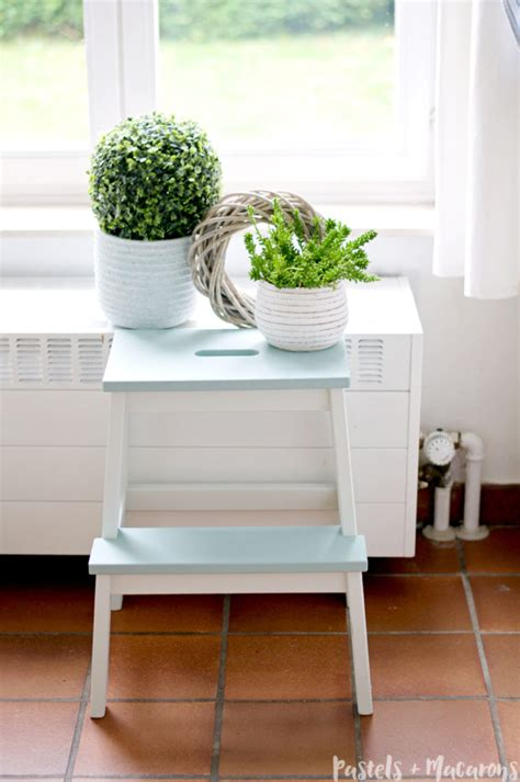 diy makeovers that transform the ikea bekvam step stool ikea step stool makeover diy tutorial that is simply stunning
