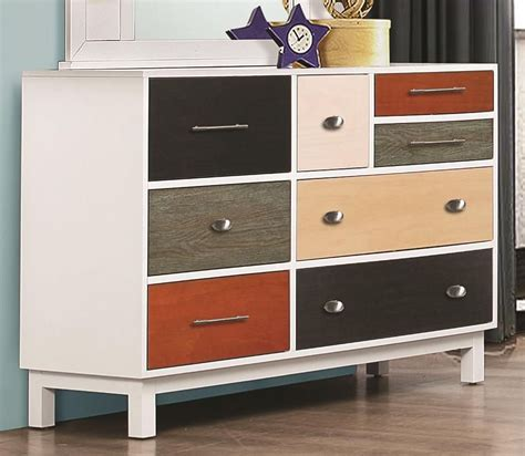 Multi Drawer Dresser Lemoore Multi Color 8 Drawer Dresser From Coaster 400793
