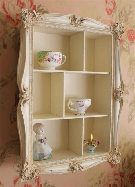 cream wall shelves for bedrooms french vintage style ornate wall display shelf unit