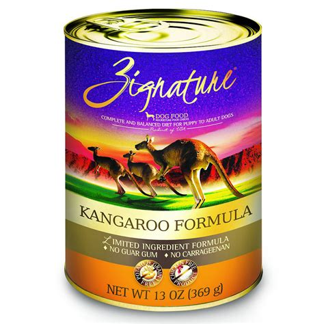 zignature kangaroo food kangaroo canned food