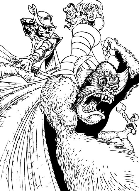 gorilla grodd coloring page gorilla grodd free colouring pages