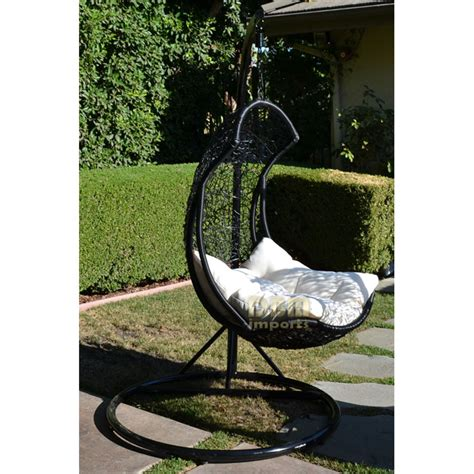 swing louge egg shape wicker rattan swing lounge chair weaved hanging