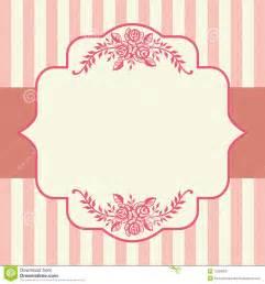 frame da cor de rosa de rosas do vintage imagens de stock