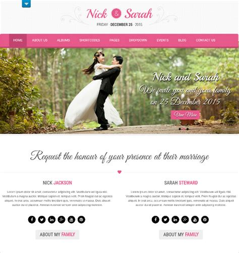 37 free wedding website themes templates free
